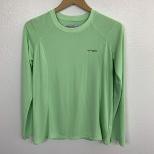 Columbia Woman Top Long Sleeve PFG Green Sz: M